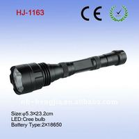 CREE led high power flashlight gift box packing with 18650 battery