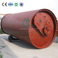old tyre refinery processing machine scrap tyre processing pyrolysis machine waste tire recycling plant