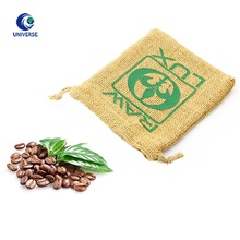 Wholesale Custom Printing Private Label Flat Bottom Beans Packaging Small Pouch Jute Coffee Bag