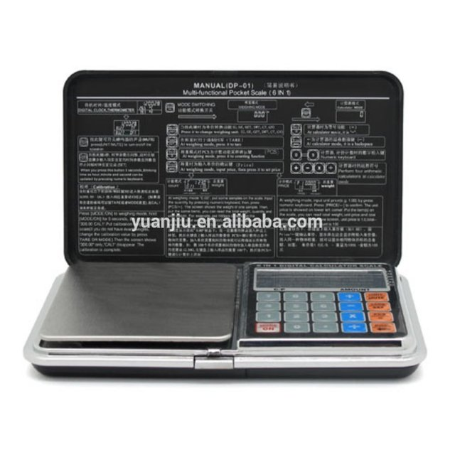 6 in 1 0.1g 500g Mini Digital Scale Calculator Clock Thermometer LCD Weighing in Consumer Electronics