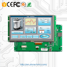 "7"" Intelligent LCD Integrated Touch Screen with Controller Board Support Any Microcontroller"