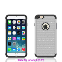 Glitter diamond gorgeous case bumper cheap pc material white for iphone 6 silicone case anti-shock latest high quality