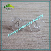 13mm Flat Clear Plastic Flower Head Thumb Tack