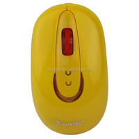 Computer Accesories Yellow USB 3D optical 800 dpi Foldable Wired Mouse , M-011