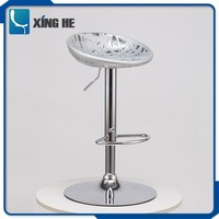 Swivel fashion style adjustable height stool with step