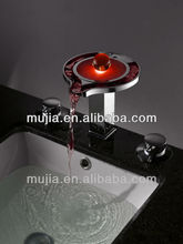 LPT01 Temperature color change led basin faucet with CE approved crystal basin faucets basin faucets 2012