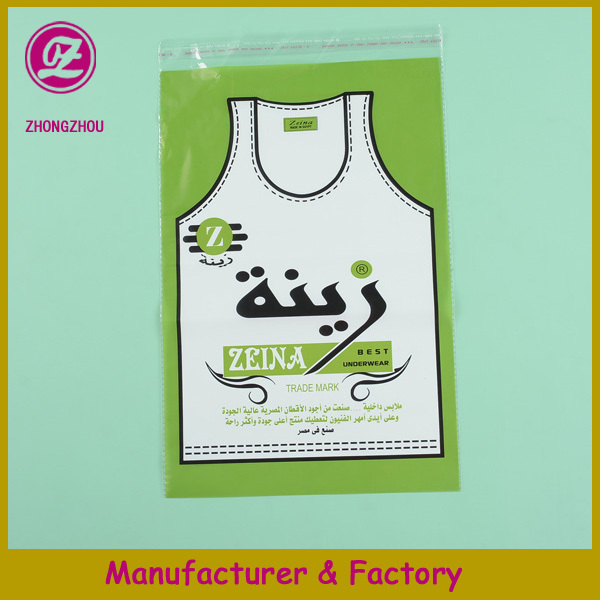 opp material good quality t-shirt plastic bag