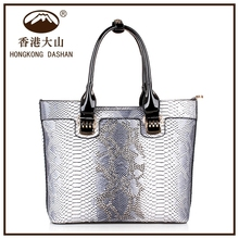 2016 Top sell Twinkling New Style Famous Brand Snake Skin Tote Handbags Manufacturers women's bag with cheap price