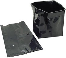 Hortiking Black Plastic Nursery Bag For Plants and Seeds