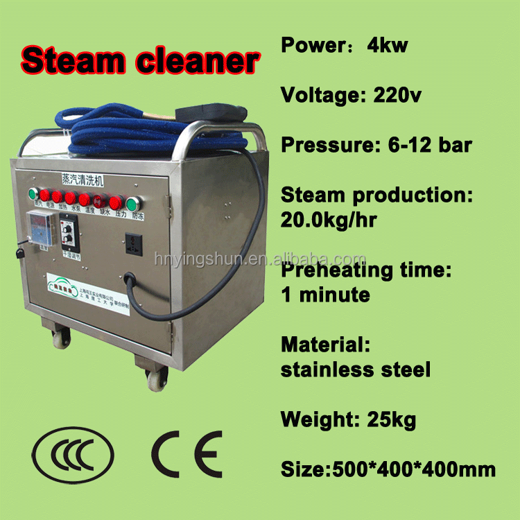 4kw 6~12bar electric heated portable industrial steam cleaners for sale, high pressure steam
