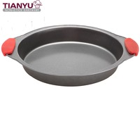 Carbon Steel Cake Mold with Silicone Handle for Kitchen
