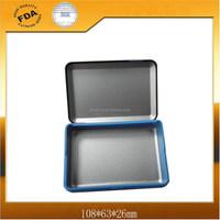 rectangle cigar tin box with plastic frame good closing