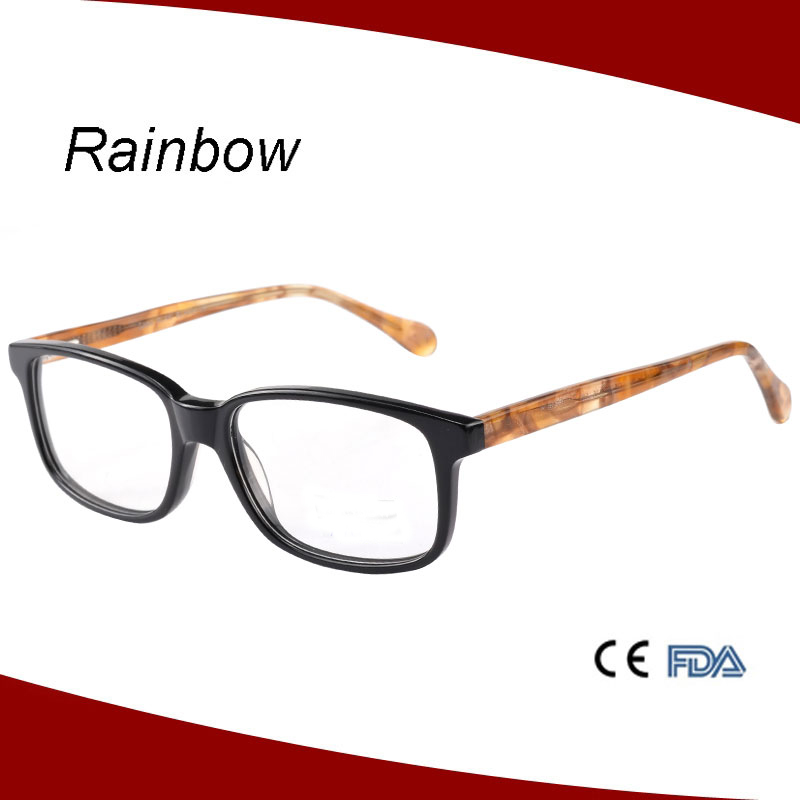 Acetate nice eyeglasses optical frame with two tone colors