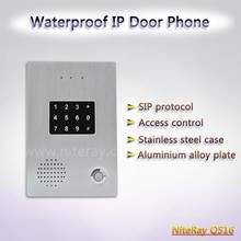 voip sip phone door bell SIP intercom with keypad and card reader