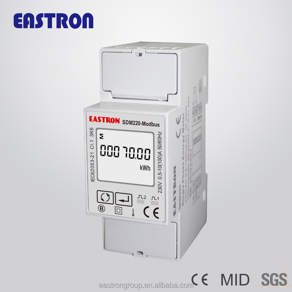 Single phase electricity meters, electric sub meter for AMR/AMI , SDM220-Modbus