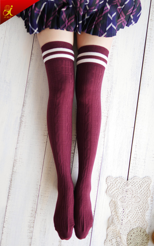 fashion young girl jacquard knee high sox stocking