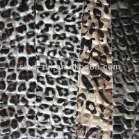 PU/PVC Rexine Leopard Leather Stocklot For Fashion Bags