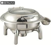 Sunnex hotel restaurant supply round glass lid chafer commerical food warmer chafing dish parts
