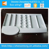 special design thick vacuum formed plastic serving tray for snacks.
