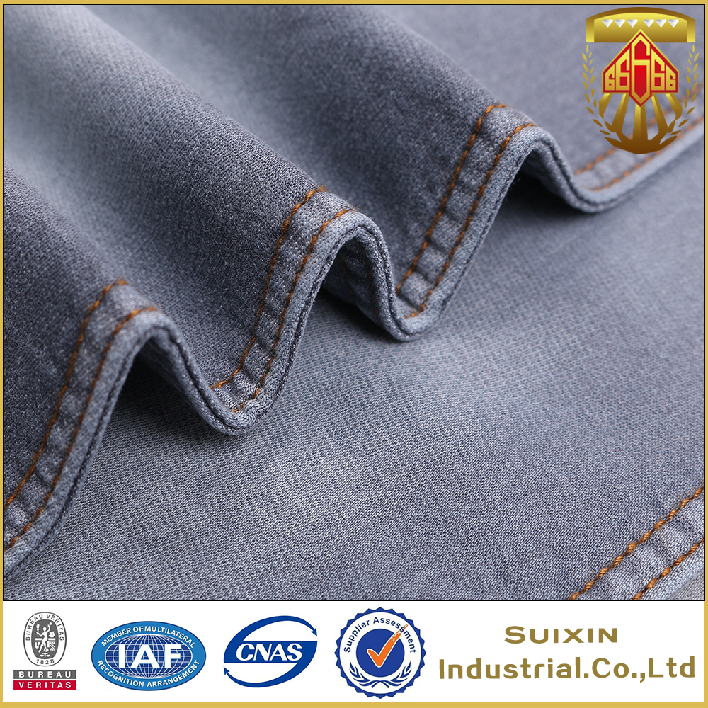 denim fabric factory wholesale cotton knitted denim fabric