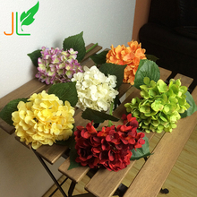 Artificial silk Hydrangea Colorful Silk Wedding Flowers with High Quality