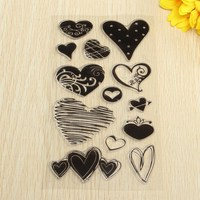 New Transparent Stamp Heart Shape Design For Scrapbooking Photo Album Diary Card Making Christmas DIY Decoration Supplies