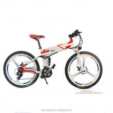 2017 new design 26 inch high quality folding electric mountain bike/bicycles electric dirt bikes
