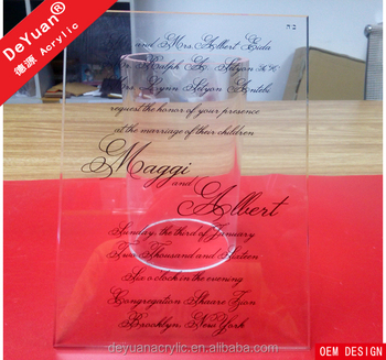 Chinese invitation cards wedding 2015 Clear