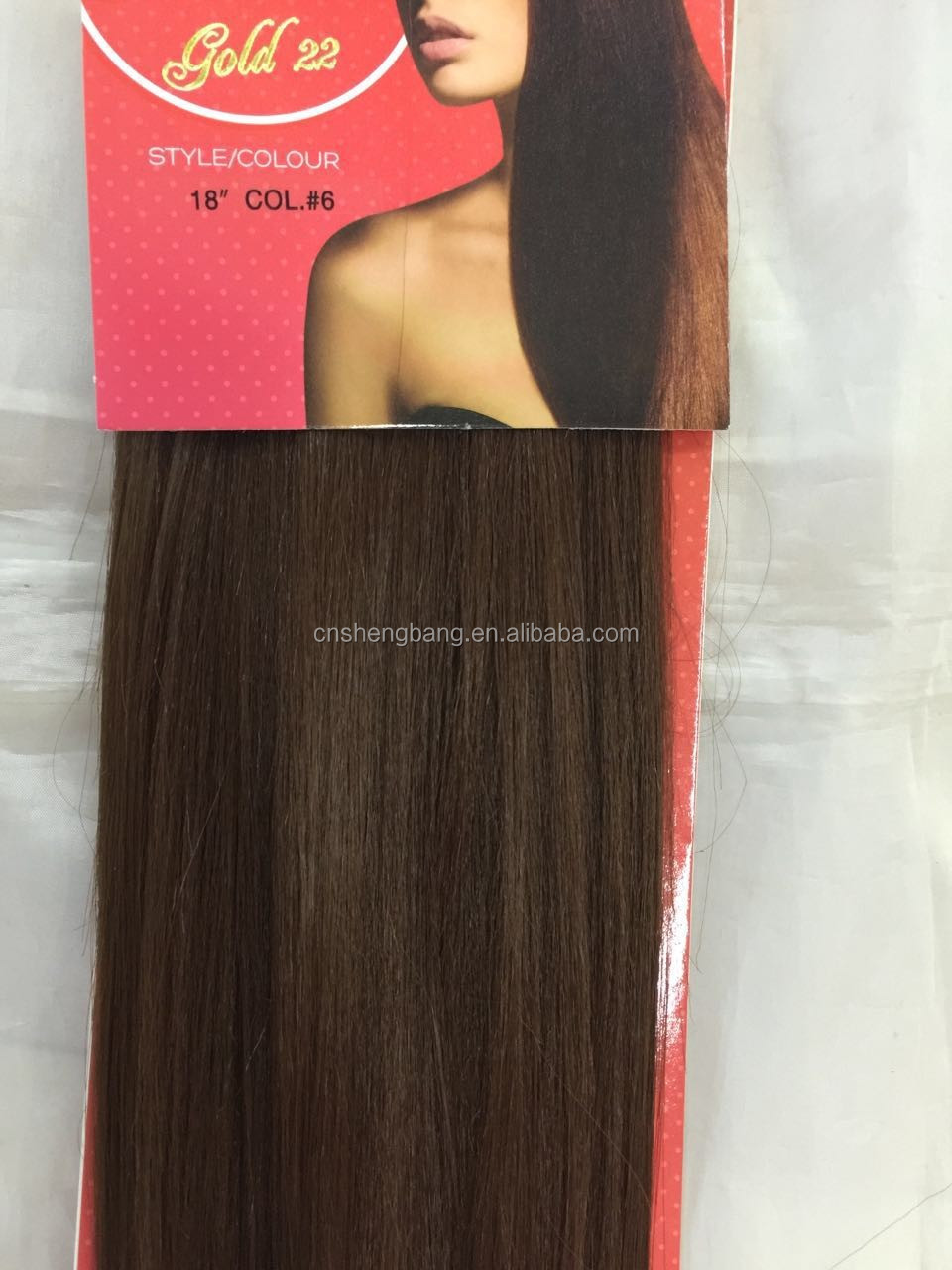 The Look Gold 22 Synthetic hair weft length 14inch-22inch,color 1# 1b 2# 4# 6# wholesale synthetic hair extensions