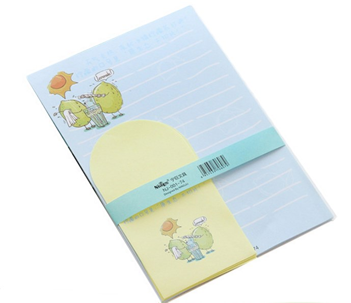 New arrival full color printing custom company sample letter pad