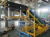 belt conveyor for working tables assembly line