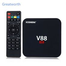 2016 Most popular Rk 3229 quad core DVB-S V88 1G/8G tv box