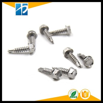SS410 stainless hex head self-drilling screws