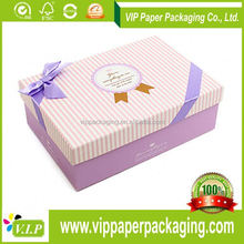2012 SUMMER BEST SELLING ELEGANT AND DETACHABLE PURPLE PAPER JEWELRY BOX