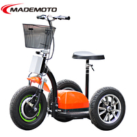 CE approved 500W brushless portable 3 wheel zappy mobility electric scooter for adult