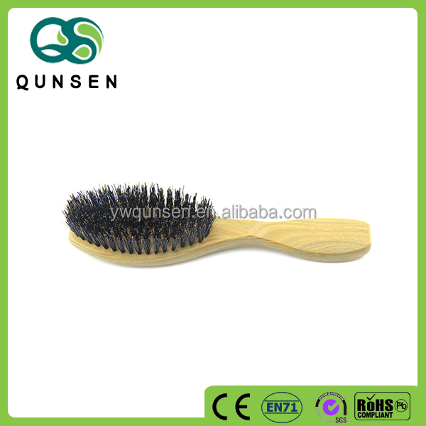 2017 new design wooden natural hair boar bristle brush