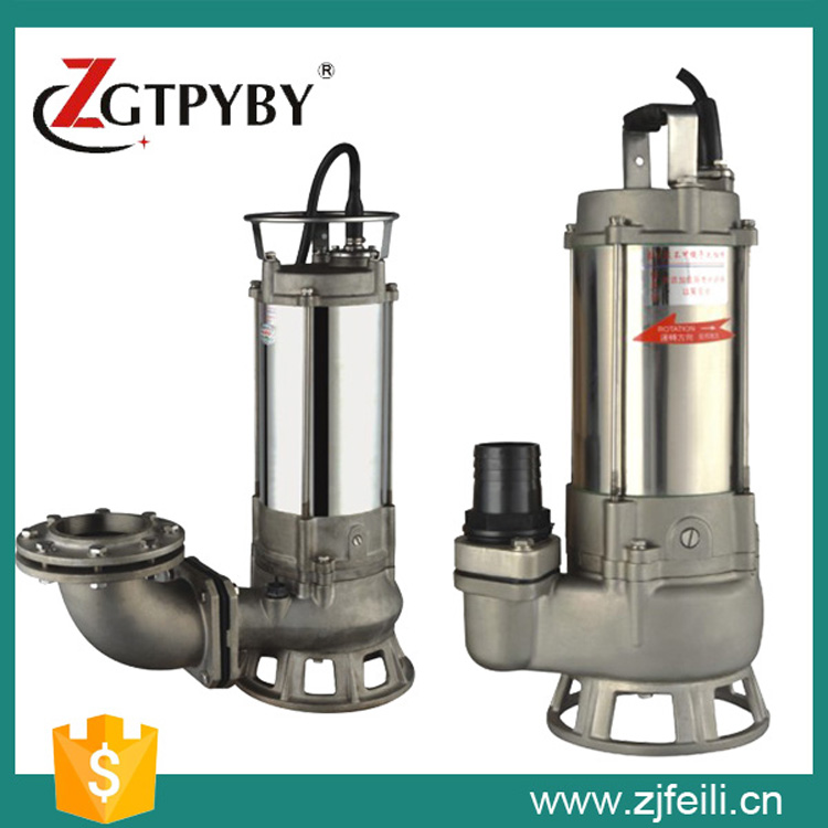 dirty water suction pump with vortex impellor float switch submersible sewage pump