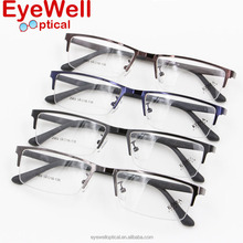 Half rim alloy metal optical frame with TR90 temple cool eyeglasses most fashion hot sale for men 2069