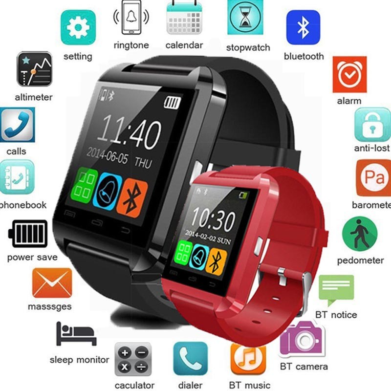 Bluetooth Smart Watch Relogio Android SmartWatch Phone Call GSM Sim Remote Camera Information Display Sports Pedometer pk Y1 <strong>A1</strong>
