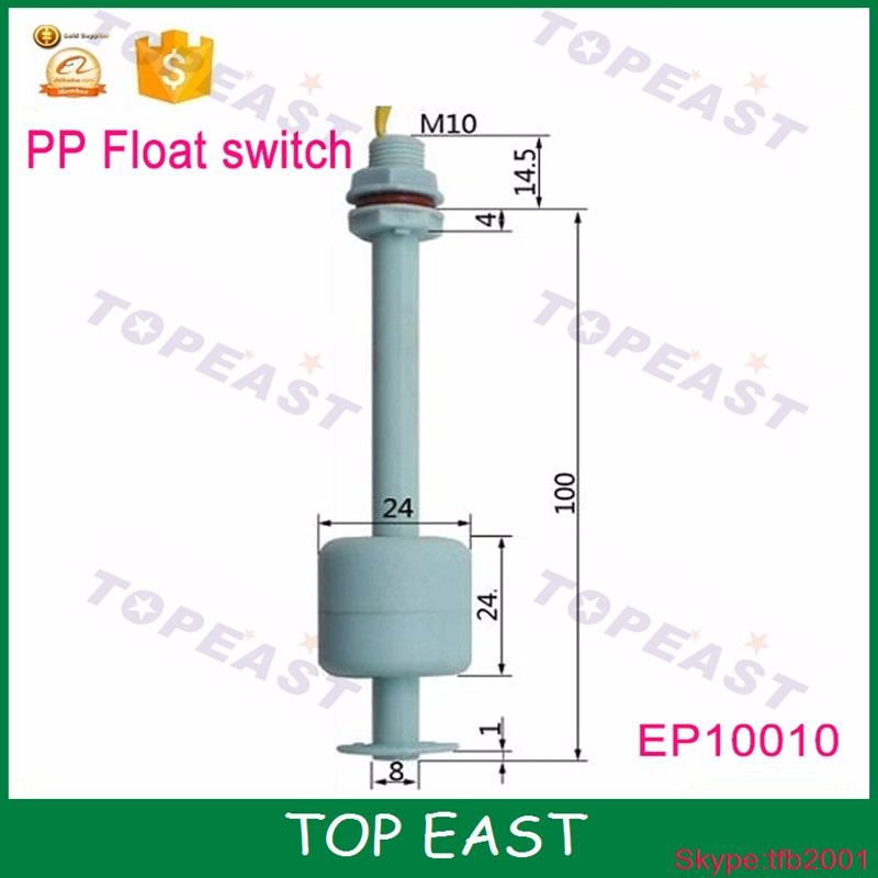 Whole sale PP Plastic water level sensor Switch for pump <strong>M10</strong>*<strong>100mm</strong> EP10010