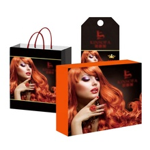 Low cost factory made extension wig packaging paper box with personal design