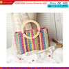 Best selling 2014 colorful straw hand bag