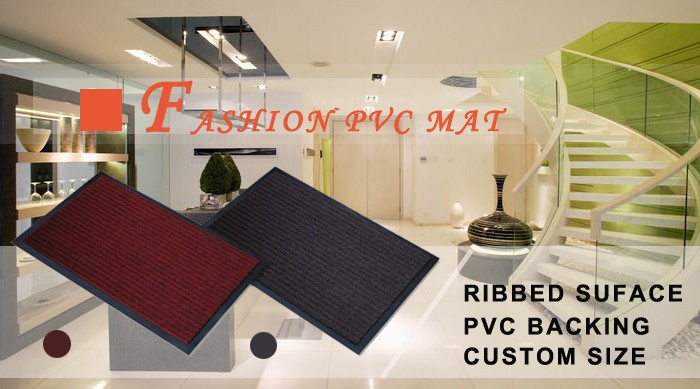 outdoor custom entry double ribbed door mats for bathroom or kitchen