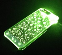 Flashing Clear Skin Hard Case For Apple iPhone 5G 5S, light up cell phone cases for iphone 5