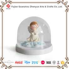 Home Decorated High Quality Angel Resin Christmas Plastic Angel Snow globe