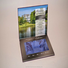 HardCover lcd video brochure / Digital greeting card,video brochure for wedding ,business