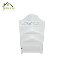 Custom White Storage Drawer Rotate Wall Triangle Bathroom Mirror Cabinet