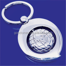 custom printed round the globe shaped travel soft EVA foams key chain