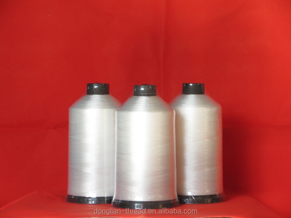 150D/3 100% filament polyester sewing thread,embroidery leather jeans bag string,guangzhou factory professional made wire