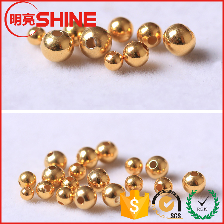 China bead manufacturers gold / rose gold / silver plated 2mm 2.5mm 3mm 4mm 5mm .. 10mm jewelry stainless steel metal loose bead